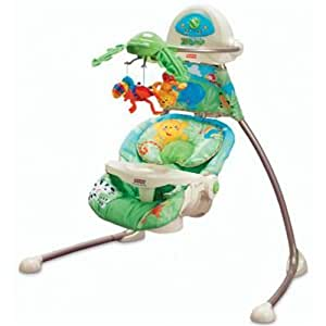Fisher-Price Open-Top Rainforest Cradle Swing