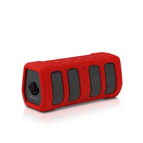 TrekStor PowerBoom mobile 150 (Outdoor Bluetooth Lautsprecher mit Freisprechfunktion, 2 x 5 Watt) rot