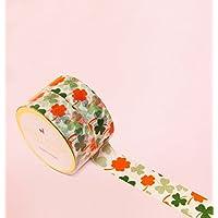 Shamrock Clover Blumen Washi Tape for Planning • Planer und Organizer • Scrapbooking • Deko • Office • Party Supplies • Gift Wrapping • Colorful Decorative • Masking Tapes • DIY (15mm breit - 10 M)
