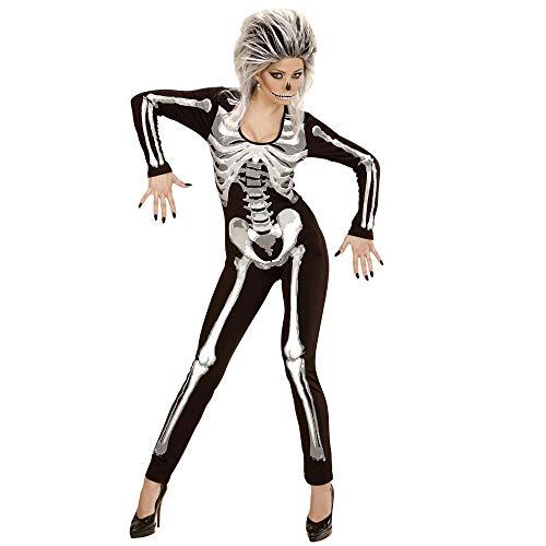 Widmann 49453 - Erwachsenenkostüm Skelett Girl, Overall, Größe L