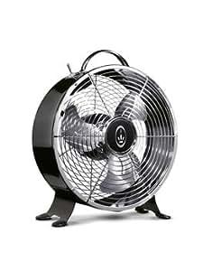 PRINCESS-Ventilateur Noir design et silencieux - 2 vitesses - 30W