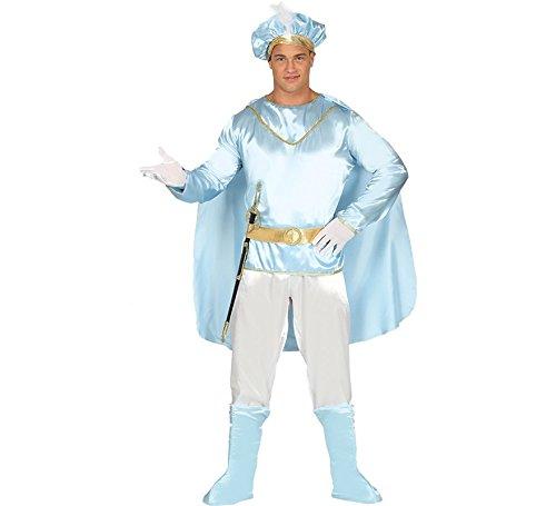 Mittelalterliche Motto Kostüm - mittelalterlicher Märchen Prinz Karneval Motto Party Kostüm für Herren Gr. M - L, Größe:M