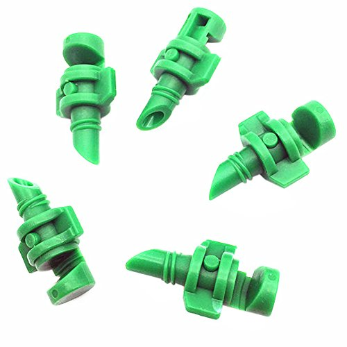 PB PEGGYBUY Garden Spray Nozzle - 180 Degrees Micro Misting Nozzle for Outdoor Cooling System Pack of 100