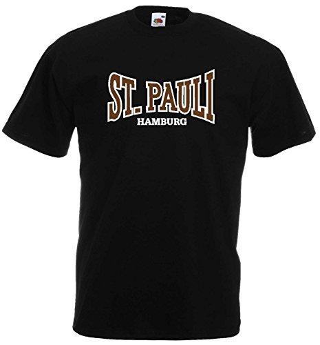 world-of-shirt Herren T-Shirt St. Pauli Hamburg Ultras Fan Shirtschwarz-XXXL