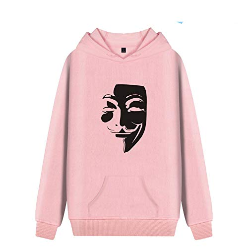Syogo V-Vendetta Maske Druck Männer und Frauen Hoodies Sweatshirt Pink S