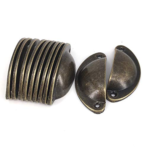 Vintage Pulls Red Copper Tone Kitchen Cabinet Drawer Hardware Pulls Iron Pull Handle -