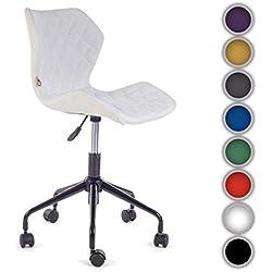Silla de oficina giratoria escritorio taburete altura ajustable cuero sintético sillón diseño silla Nuevo INO Blanco de My Sit
