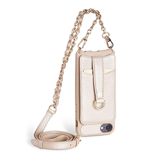 Vaultskin Victoria Crossbody Wallet Case For iPhone 6/7/8 Champagne Chain Gold