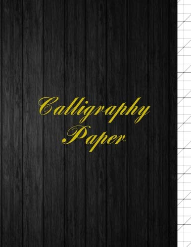 """Calligraphy Paper: Slanted Calligraphic Writing for Experienced and Beginner Calligraphers - Blank Write In & Practice Typography Hand Lettered Logo Design - Dark Wood (8.5"""" x 11"""" Size)"""