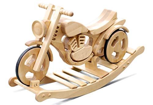 Schaukelmotorrad Holzmotorrad Schaukelspielzeug Schaukelpferd Massivholz Spielzeug Kinderspielzeug Schaukel&Garten/ Kinder 3-6 Jahre Alt| Sprint