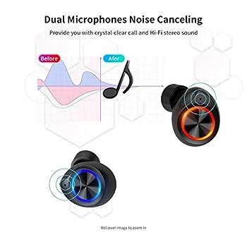 iAmotus Cuffie Bluetooth, Auricolari Senza Fili Bluetooth 5.0 IPX7 Sportivi Wireless Stereo in Ear con Custodia da Ricarica, TWS Mini Cuffie Prova di Sudore, Touch Control per Samsung iPhone Huawei