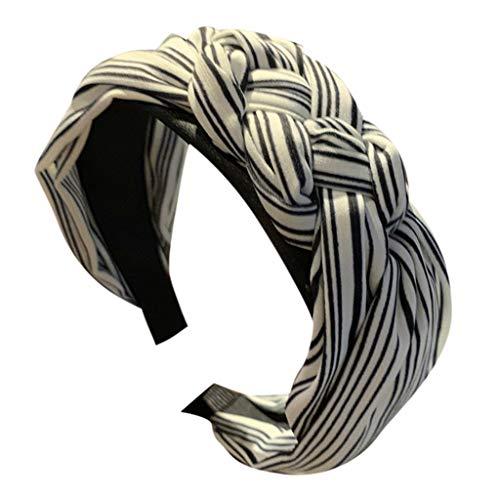 HEVÜY Stirnband Damen Kopfband Haarband Turban Elastische Weiche Stirnband Blume Muster bedruckt Verdreht Baumwolle bandana kopftuch Wickeln Niedlich -