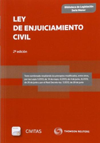 Ley de Enjuiciamiento Civil (SM) (Papel + e-book) (Biblioteca de Legislación - Serie Menor) por Departamento de Redacción Civitas