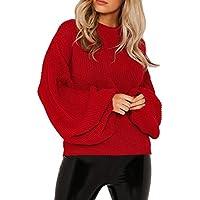 Damen Sweater,Geili Mode Frauen Damen Herbst Winter Gestrickte Einfarbig Langarm Laterne Ärmel Tops Shirt Lose... preisvergleich bei billige-tabletten.eu