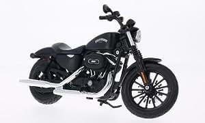 Harley Davidson Sportster Iron 883 , mat- noir, 2014, voiture miniature, Miniature déjà montée, Maisto 1:12