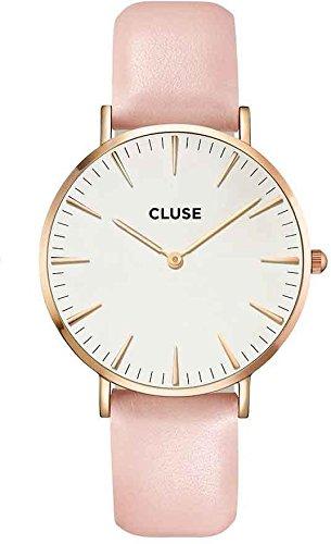 Cluse Montre Femme Analogique Quartz avec Bracelet en Cuir – CL18014