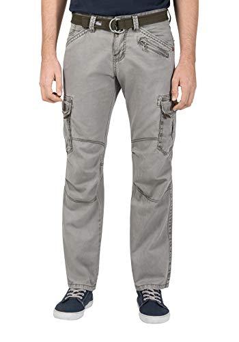 Timezone Herren BenitoTZ Cargo Pants incl. Belt Hose, Grün (Dusty Olive 4175), W33/ L32