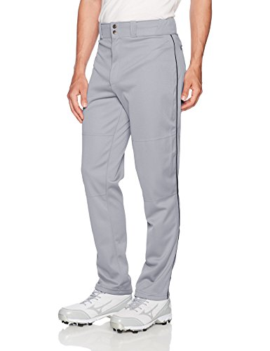 Wilson Herren Baseballhose Classic Relaxed Fit Piped, Damen Herren, grau/schwarz, Medium (Pants Softball Schwarz)