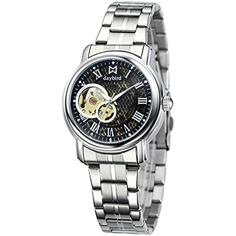Orologio meccanico automatico uomo/ Cava d'affari/Banda impermeabile orologio in acciaio-D