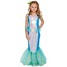 Girls Kids Little Mermaid World Book Day Fancy Dress Costume
