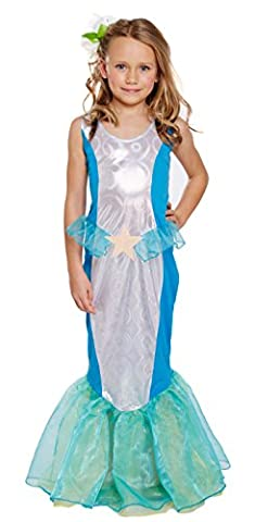Girls Kids Little Mermaid World Book Day Fancy Dress Costume All Ages VEX U00245/246/247 (4-6 years) by Fancy Pants Party Store
