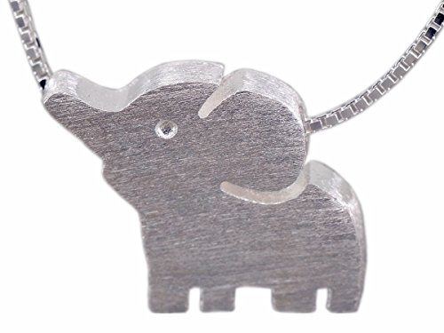 NicoWerk - SKE168 - Cadena de plata con colgante de elefante, para mujer, cadena de plata de ley 925, joyería