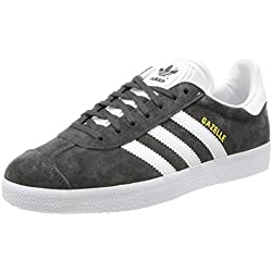adidas Originals Gazelle, Zapatillas Unisex Adulto, Gris (Dgh Solid Grey/White/Gold Metallic), 42 EU