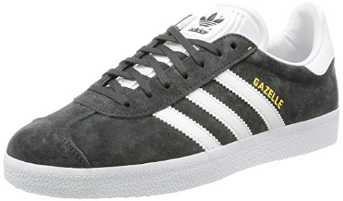 adidas Gazelle, Scarpe Stringate Derby Uomo, Multicolore (Grey Dgsogr/White/Goldmt), 42 2/3 EU