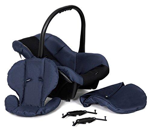 Poussette Combinée Trio 3 en 1 B&W 2017 Bleu marine – Landau, poussette promenade, siège auto Groupe 0 - Livrée avec ses accessoires. image8