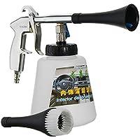Laurelmartina Pistola de Limpieza de Coches con Pulso de Aire de Alta presión con Cepillo Kit de Limpieza Exterior de Interiores de Superficie Multifuncional Tipo UE