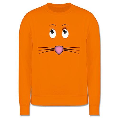 Sonstige Tiere - Maus Gesicht Mouse - Herren Premium Pullover Orange