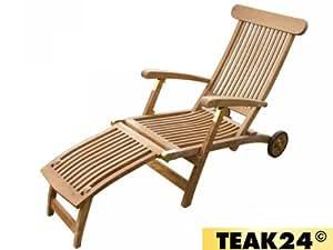deckchair martinique verstellbar massiv mit rollen h0713 k che haushalt. Black Bedroom Furniture Sets. Home Design Ideas
