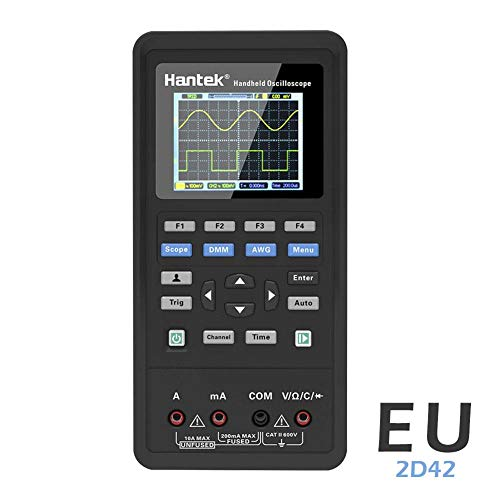 HEIRAO 3 en 1 Digitales Oszilloskop + Wellenformgenerator + Multimeter, 2 Kanäle, 40 MHz und 70 MHz, LCD-Display, tragbarer USB 70 Lcd