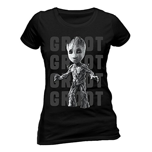 Guardians of The Galaxy VOL 2 - Groot Photo (Fitted) (XXL) (T-shirt Voll)