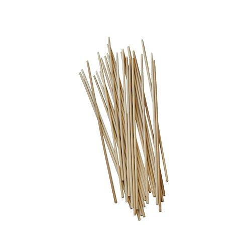 1000 Stäbe, Holz, pure, Ø 3 mm, 15 cm, ideal für Cakepops und Zuckerwatte, beidseitig stumpf, Papstar86593
