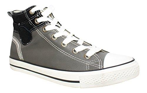 Sneakers montantes bi matière Tyler homme Gris