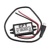 Newgrees Wasserdichter Konverter, 7-50 V auf 5 V, 2 A, Mikro-USB-Anschluss, niedriger Energieverbrauch, 3 V
