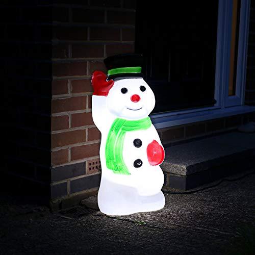Festive Lights strombetriebene, beleuchtete Weihnachtsfiguren, Verschiedene Motive und Größen, für Innen und Außen, (Schneemann 68cm)