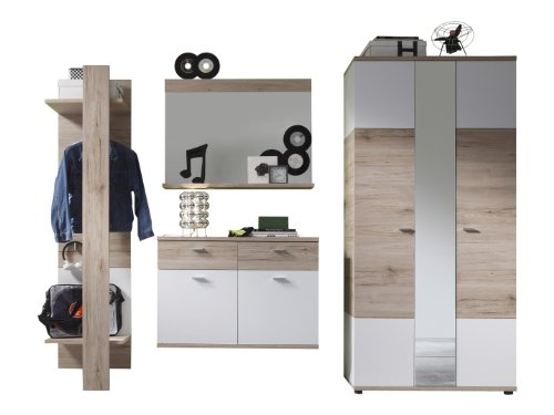 trendteam Garderobe Garderobenkombination 4-teiliges Komplett Set Campus, 245 x 190 x 38 cm in...