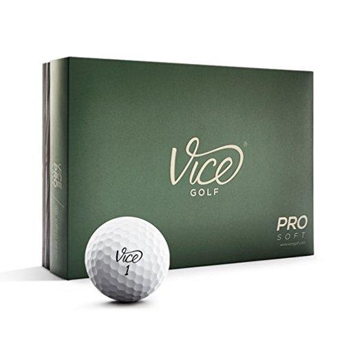 Schraubstock Golf Pro Soft Golf Balls (One Dozen), Herren, PROSOFT, weiß, One Dozen