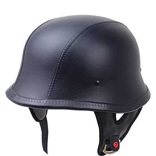 YAJAN-helmet Jet Vintage Helm Motorrad Roller Retro Mofa Scooter-Helm Chopper Motorrad-Helm DOT Zertifiziert Herren Damen mit Integriertem