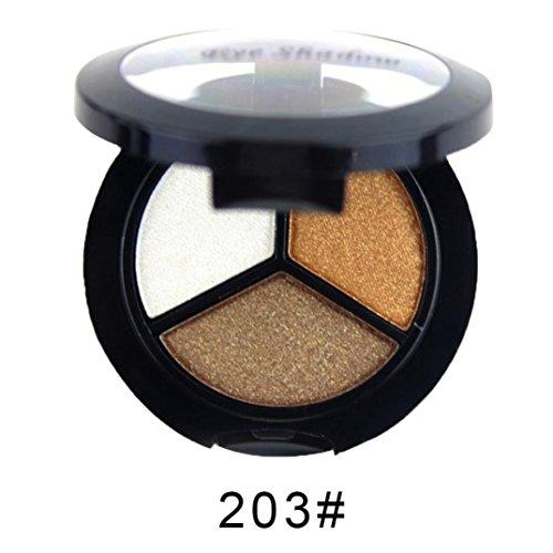 Fards à Paupières Pearl Durable Palette de Cadeau Saint-Valentin Smoky Cosmetic Set 3 Couleurs Natural Matte Maquillage Ombre à Paupières (203#)