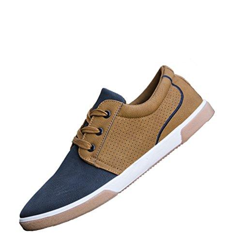 Homme Chaussure Casual Basse Respirante Chaussures de Skate Décontractées Bleu 44