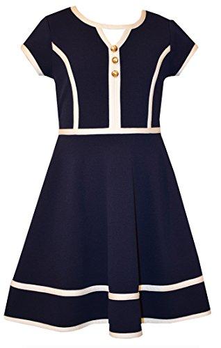 Bonnie Jean Mädchen Modern Kleid blau navy Gr. 14 Jahre, navy Bonnie Jean Kleid 14