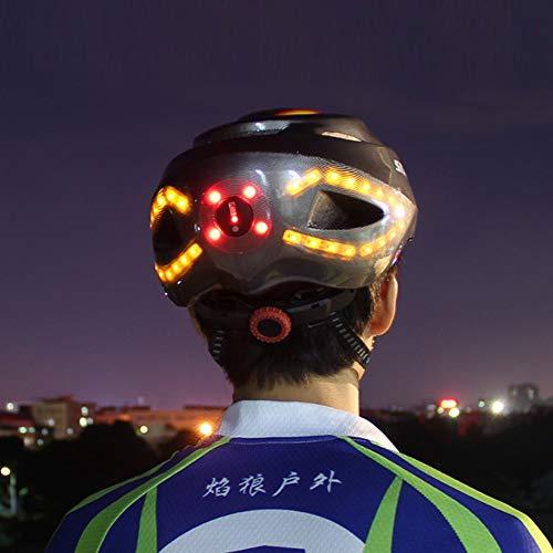NCBH Smart Fahrradhelm, mit Blinker 3 in 1 leicht verstellbarem Rennradhelm 13 Belüftungsöffnungen Bessere Kühlung Geeignet für Radfahren, Skateboard, Roller