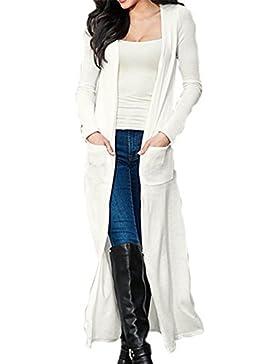 Manica lunga Cardigan maglione Yacun donna