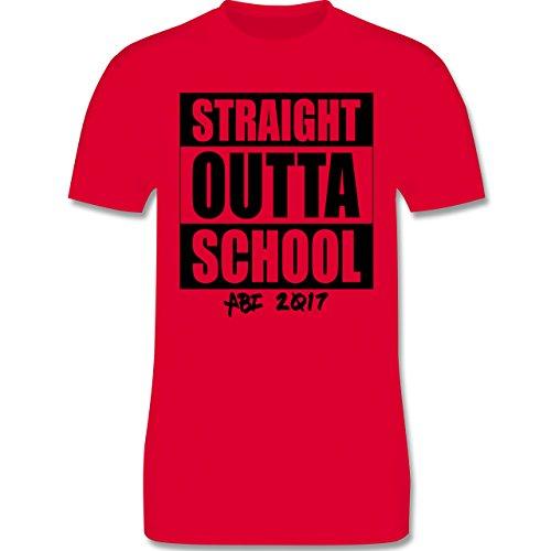 Abi & Abschluss - Abi 2017 Straight Outta School - Herren Premium T-Shirt Rot