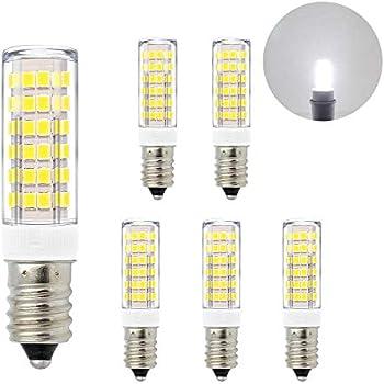 ENUOTEK Lamparas Bombillas Pequeñas SES Casquillo E14 de LED 7W 600Lm Luz Fria 6000K AC220-