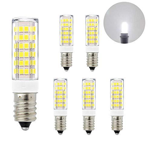 ENUOTEK Kleine LED Birnen Leuchtmittel Glühbirnen Lampen SES E14 7W Kaltweiß 6000K Hohe Helligkeit 600Lm AC220-240V Ersatz für 60W Halogenlampen Glühlampen 6er Pack -
