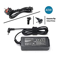 """Laptop Charge AC Adapter for Samsung Chromebook 3 2 1 Xe303c12, Xe500c12, Xe503c12, Xe503c32; ATIV Smart 300T 500T 700T XE303C12 ATIV Book 9 NP930X2K; Samsung 11.6"""" Chromebook Power supply Cord UK"""